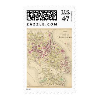 Ciudad de Portsmouth 3 Timbres Postales