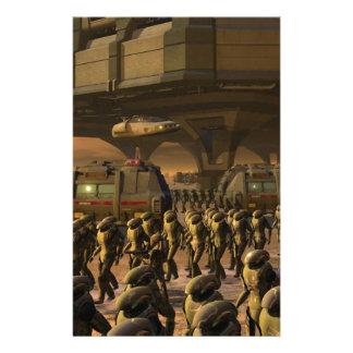 Ciudad de Posbi - soldado de caballería del Papelería