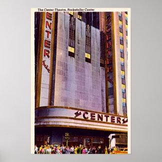 Ciudad de radio 1940 de New York City, Nueva York  Póster