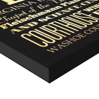 Ciudad de Reno del arte de la tipografía del estad Impresión En Lona Estirada