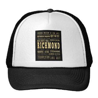 Ciudad de Richmond si arte de la tipografía de Vir Gorra