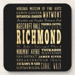 Ciudad de Richmond si arte de la tipografía de Vir Posavasos De Bebidas