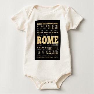 Ciudad de Roma del arte de la tipografía de Italia Mameluco De Bebé