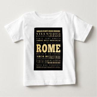Ciudad de Roma del arte de la tipografía de Italia Playera Para Bebé