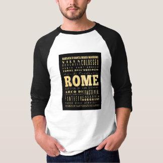 Ciudad de Roma del arte de la tipografía de Italia Polera