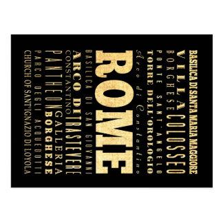 Ciudad de Roma del arte de la tipografía de Italia Postal