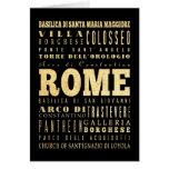 Ciudad de Roma del arte de la tipografía de Italia Tarjeta De Felicitación