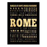 Ciudad de Roma del arte de la tipografía de Italia Postales