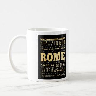 Ciudad de Roma del arte de la tipografía de Italia Taza Clásica