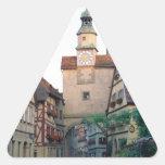 Ciudad de Rothenburg, Alemania Calcomania De Trianguladas