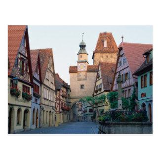 Ciudad de Rothenburg, Alemania Tarjeta Postal