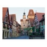 Ciudad de Rothenburg, Alemania Tarjetas Postales