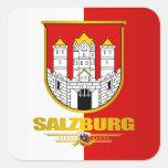 Ciudad de Salzburg Calcomania Cuadrada Personalizada