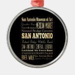 Ciudad de San Antonio del arte de la tipografía de Ornato