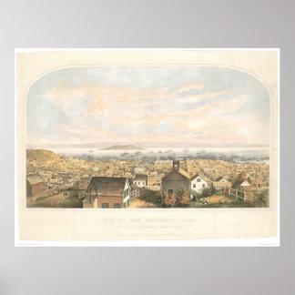 Ciudad de San Francisco, CA 1852 (1065A) Póster