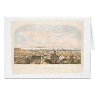 Ciudad de San Francisco, CA 1852 (1065A) Tarjeta De Felicitación