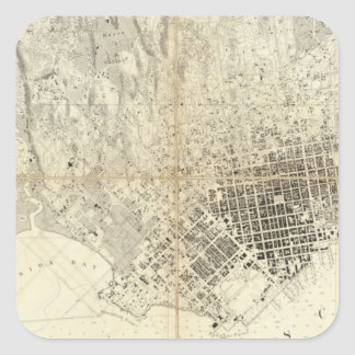 Ciudad de San Francisco y de su vecindad, Calcomanías Cuadradass Personalizadas