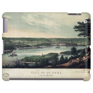 Ciudad de San Pablo, capital de Minnesota (1853) Funda Para iPad