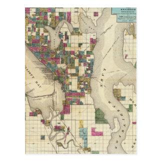 Ciudad de Seattle y de los alrededores Tarjetas Postales