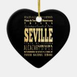 Ciudad de Sevilla del arte de la tipografía de Esp Ornaments Para Arbol De Navidad