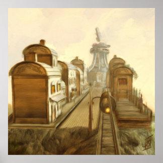 Ciudad de Steampunk Impresiones