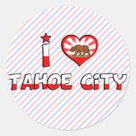 Ciudad de Tahoe, CA Etiquetas Redondas