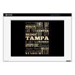 Ciudad de Tampa del arte de la tipografía del esta Calcomanía Para Portátil