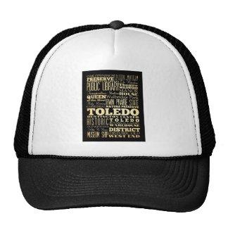 Ciudad de Toledo del arte de la tipografía del est Gorros