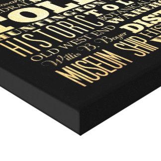 Ciudad de Toledo del arte de la tipografía del est Impresiones En Lona Estiradas