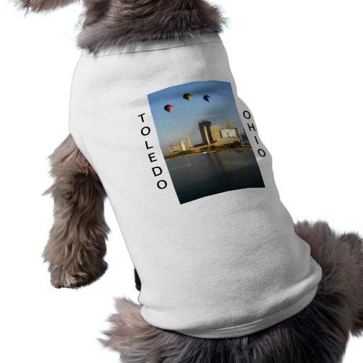 Ciudad de Toledo Ohio Camisa De Mascota