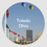 Ciudad de Toledo Ohio Etiqueta