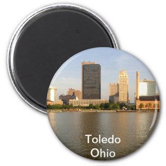 Ciudad de Toledo Ohio Imán Redondo 5 Cm