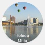 Ciudad de Toledo Ohio Pegatina Redonda