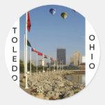 Ciudad de Toledo Ohio Pegatinas Redondas