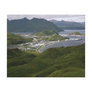 Ciudad de Unalaska, Alaska Impresion En Lona