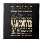 Ciudad de Vancouver del arte de la tipografía de C Azulejo