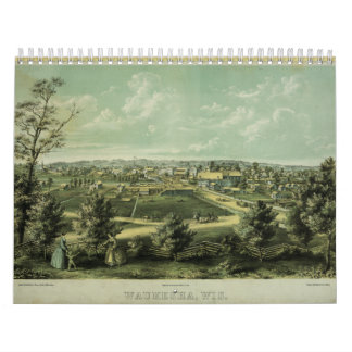 Ciudad de Waukesha Wisconsin a partir de 1857 Calendarios