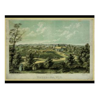 Ciudad de Waukesha Wisconsin a partir de 1857 Postal