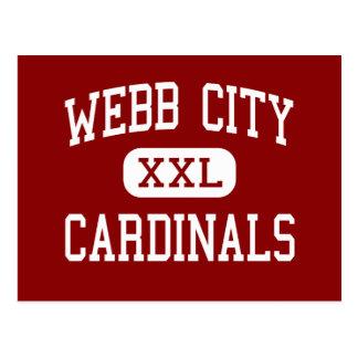 Ciudad de Webb - cardenales - centro - ciudad de W Tarjetas Postales