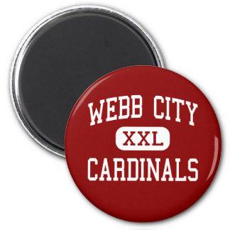 Ciudad de Webb - cardenales - joven - ciudad de We Imán Redondo 5 Cm