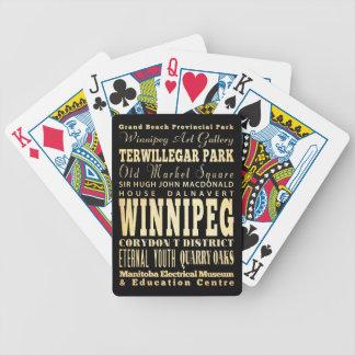 Ciudad de Winnipeg del arte de la tipografía de Ca Baraja Cartas De Poker