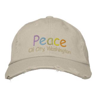 Ciudad del aceite de la paz, gorra de Washington Gorra De Béisbol Bordada