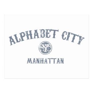 Ciudad del alfabeto tarjeta postal