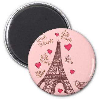 Ciudad del amor París Imanes De Nevera