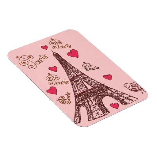Ciudad del amor París Imán De Vinilo