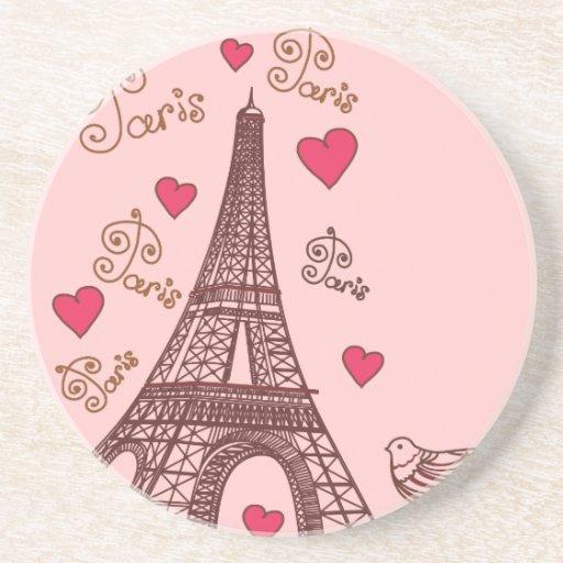 Ciudad del amor París Posavasos Para Bebidas