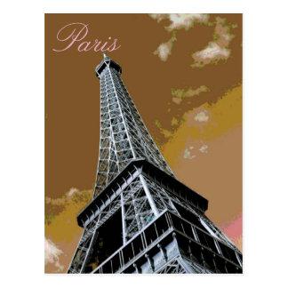 Ciudad del amor y del romance de la torre Eiffel Postales