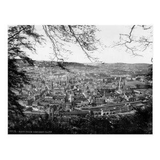 Ciudad del baño, Somerset, postal BRITÁNICA c1895