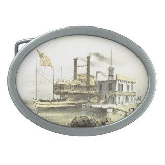 Ciudad del barco de vapor de Mississippi de Memphi Hebillas De Cinturon
