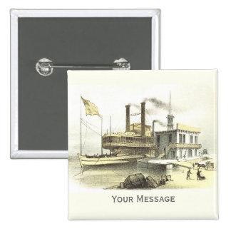 Ciudad del barco de vapor de Mississippi de Memphi Pins
